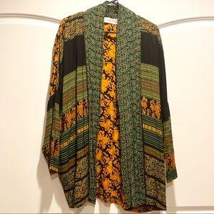 Vintage boho oversized batwing cardigan